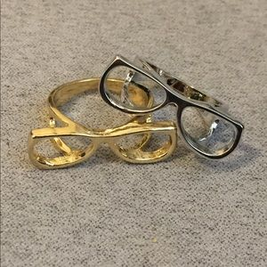 Jewelry - Eyeglasses Rings - Set of 2 - Gold & Silver
